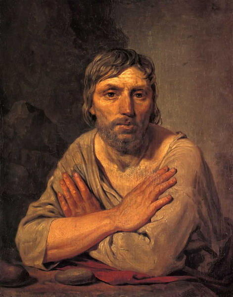 The Farmer with Folded Arms by Alexey Venetsianov (1780-1847, Russia)