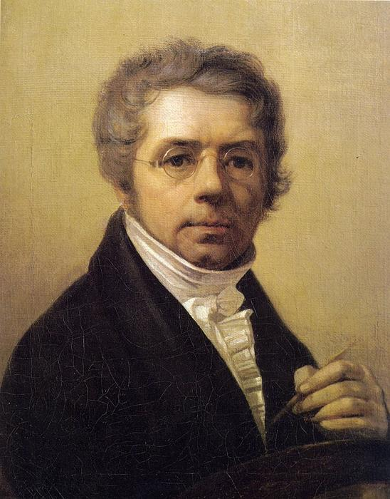 Self-Portrait, Oil On Canvas by Alexey Venetsianov (1780-1847, Russia)