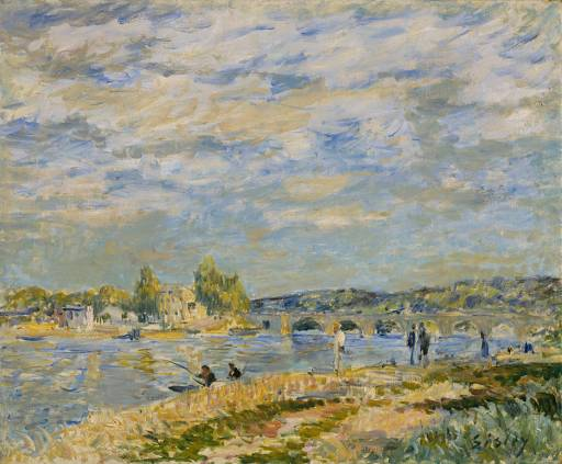 Bridge at Serves, Oil On Canvas by Alfred Sisley (1839-1899, France)