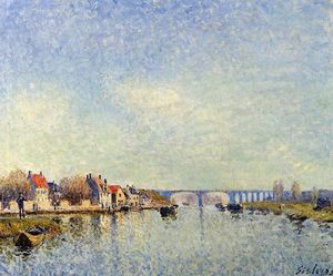 Alfred Sisley - Banks of the Loing at Saint Mammes