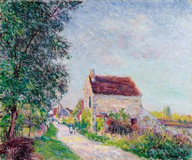 The village of Sablons, 1885 by Alfred Sisley (1839-1899, France) | Museum Quality Reproductions | WahooArt.com