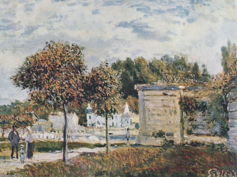 Bassin de Marly, Oil On Canvas by Alfred Sisley (1839-1899, France)