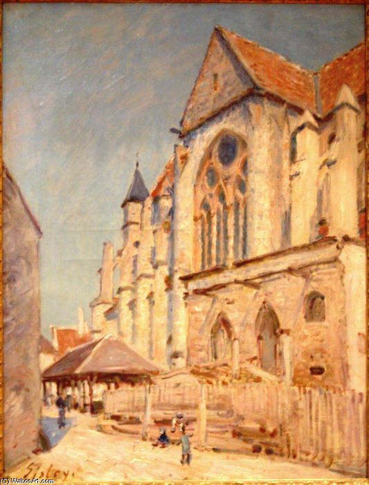 Eglise de Moret, Oil On Canvas by Alfred Sisley (1839-1899, France)