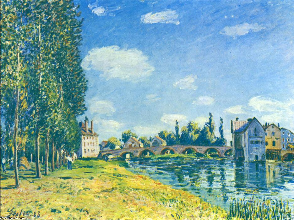 The straw Rent, Oil On Canvas by Alfred Sisley (1839-1899, France)