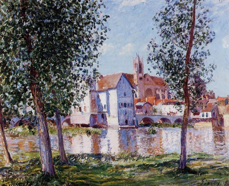 Moret sur Loing, Oil On Canvas by Alfred Sisley (1839-1899, France)