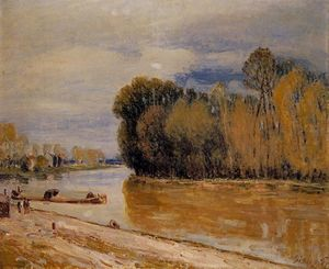 Alfred Sisley - The Loing Canal