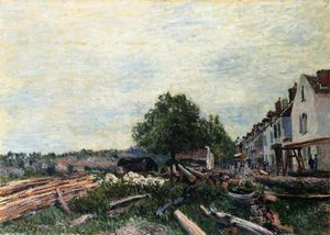 Alfred Sisley - Construction Site at Saint Mammes