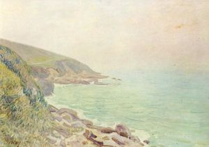 Alfred Sisley - Welsh Coast in the fog