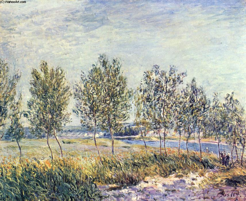 Wiese By, Oil On Canvas by Alfred Sisley (1839-1899, France)