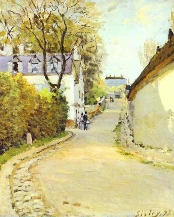 Street in Ville d Avray, 1873 by Alfred Sisley (1839-1899, France) | Oil Painting | WahooArt.com