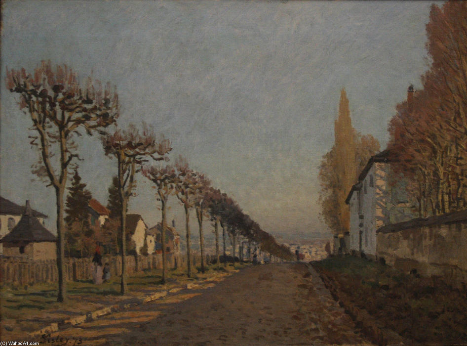 The lane of the Machine, 1873 by Alfred Sisley (1839-1899, France)
