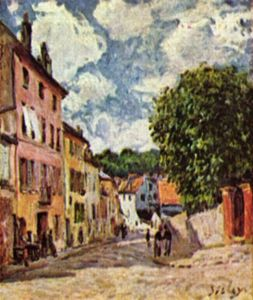 Alfred Sisley - Street in Moret Sur Loing