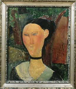 Amedeo Modigliani - A woman with velvet ribbon