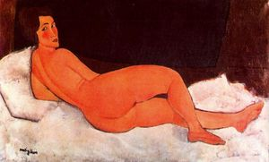 Amedeo Modigliani - Lying nude