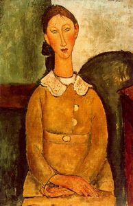 Amedeo Modigliani - A girl in yellow dress