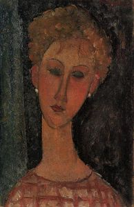 Amedeo Modigliani - A Blond Wearing Earrings