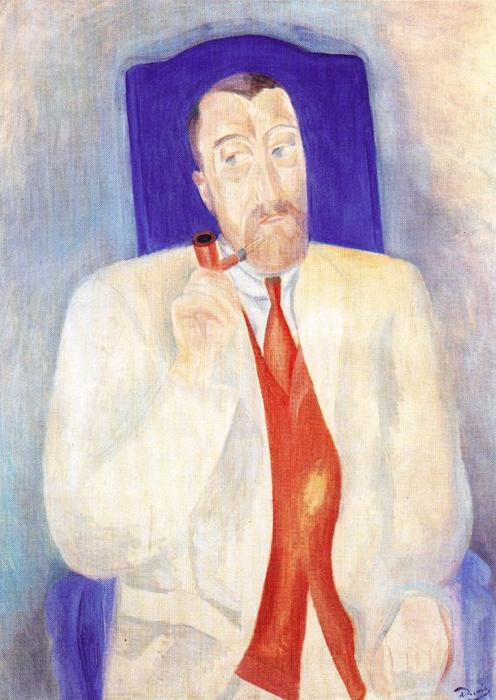Portrait of a man, Oil On Canvas by André Derain (1880-1954, France)