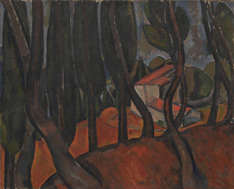 Forest at Martigues, 1909 by André Derain (1880-1954, France) | Famous Paintings Reproductions | WahooArt.com