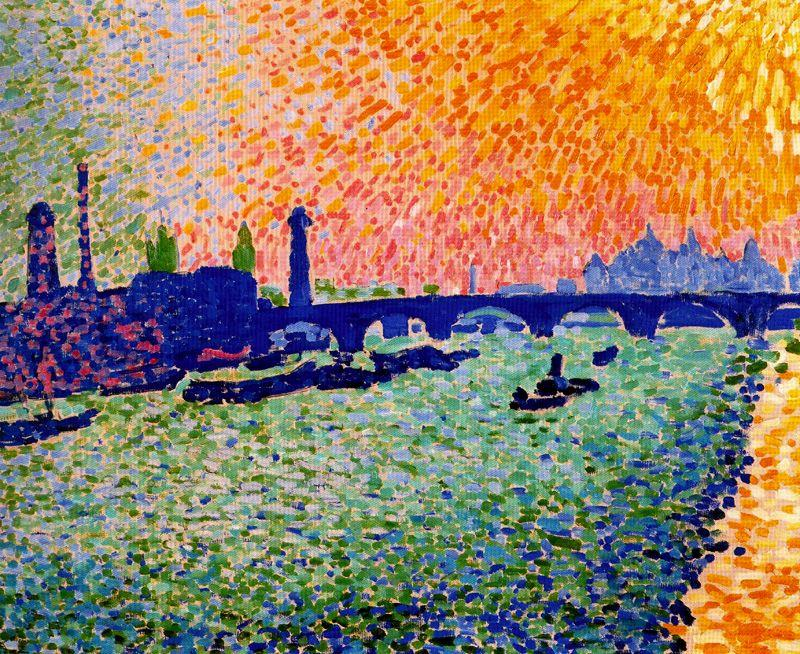 The Bridge, view on the river, Oil On Canvas by André Derain (1880-1954, France)