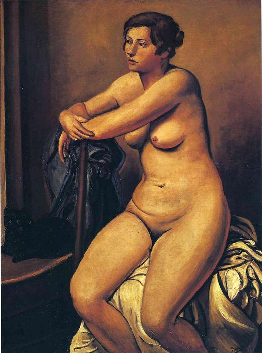 The nude female near the cat, 1923 by André Derain (1880-1954, France)