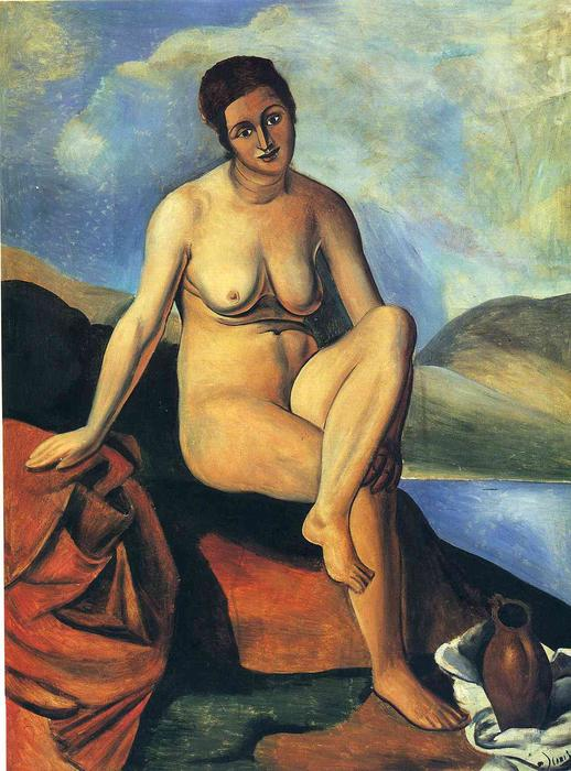 Female nude with a jug, 1925 by André Derain (1880-1954, France) | Museum Quality Reproductions | WahooArt.com