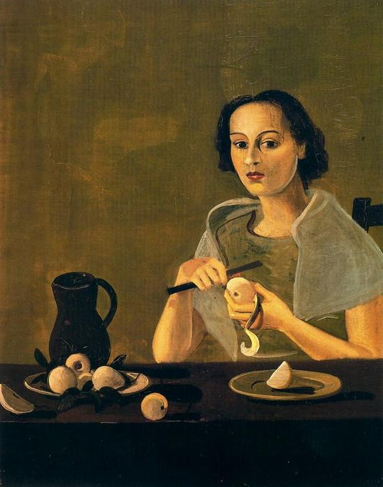 The girl cutting apple, 1938 by André Derain (1880-1954, France)