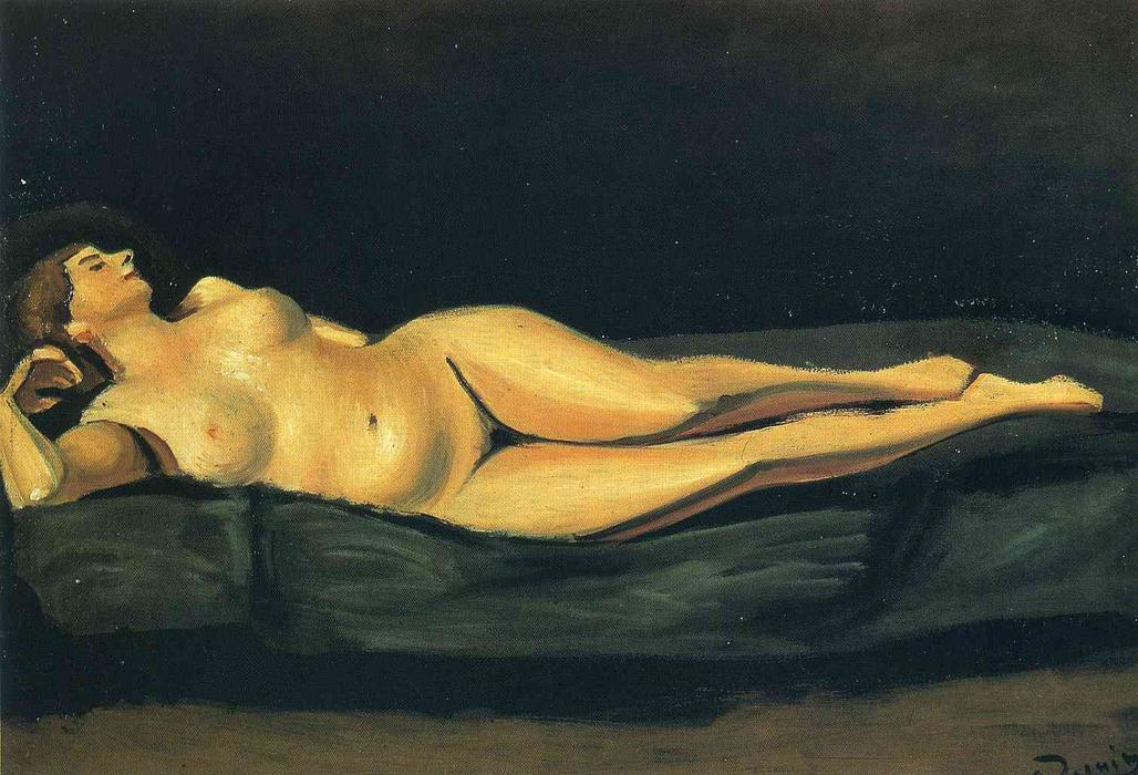 Female nude by André Derain (1880-1954, France)