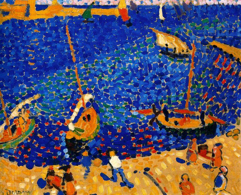 Boats at Collioure, 1905 by André Derain (1880-1954, France) | Painting Copy | WahooArt.com