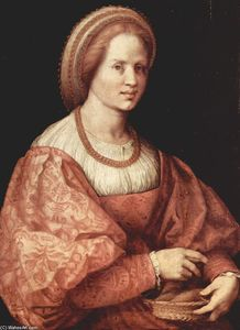 Andrea Del Sarto - Portrait of a Lady with Spindle Cup
