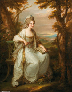 Angelica Kauffman (Maria Anna Angelika) - Portrait of Anne Loudon, Lady Henderson of Fordall