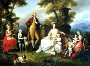 Angelica Kauffman (Maria Anna Angelika) - Ferdinand IV of Naples and his family