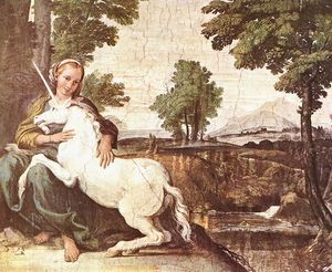 Annibale Carracci - Virgin and Unicorn (A Virgin with a Unicorn)