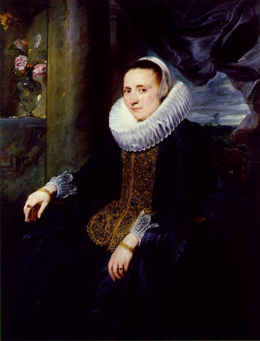 Margareta Snyders, 1620 by Anthony Van Dyck (1599-1641, Belgium) | Paintings Reproductions Anthony Van Dyck | WahooArt.com