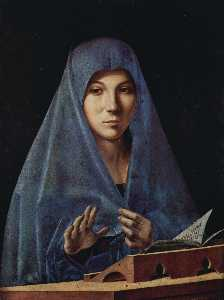 Antonello Di Giovanni Di Antonio (Antonello Da Messina) - Virgin Annunciate