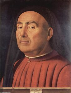 Antonello Di Giovanni Di Antonio (Antonello Da Messina) - Portrait of a Man (Trivulzio portrait)