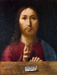 Antonello Di Giovanni Di Antonio (Antonello Da Messina) - Christ Blessing