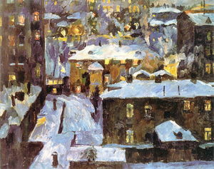 Aristarkh Vasilevich Lentulov - Night at Patriarch's Ponds
