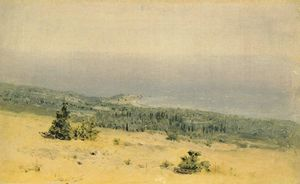 Arkhip Ivanovich Kuinji - View of the beach and sea from the mountains. Crimea