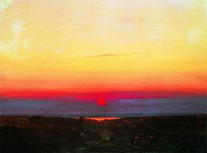 Arkhip Ivanovich Kuinji - Sunset in the steppes by the sea
