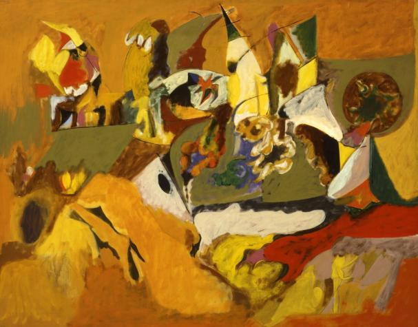 Golden Brown Painting, 1944 by Arshile Gorky (1904-1948, Turkey) | Famous Paintings Reproductions | WahooArt.com