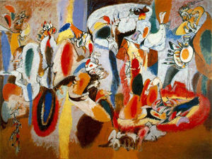 Arshile Gorky - The Liver is the Cock's Comb - (Famous paintings)