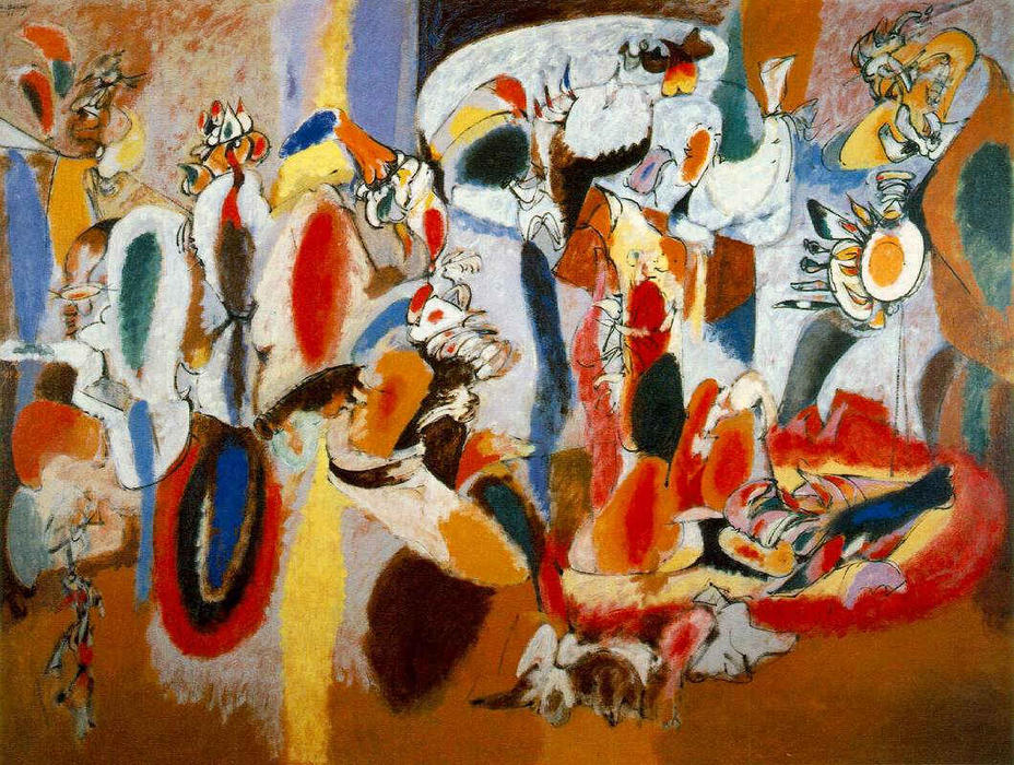 The Liver is the Cock`s Comb, 1944 by Arshile Gorky (1904-1948, Turkey) | Oil Painting | WahooArt.com