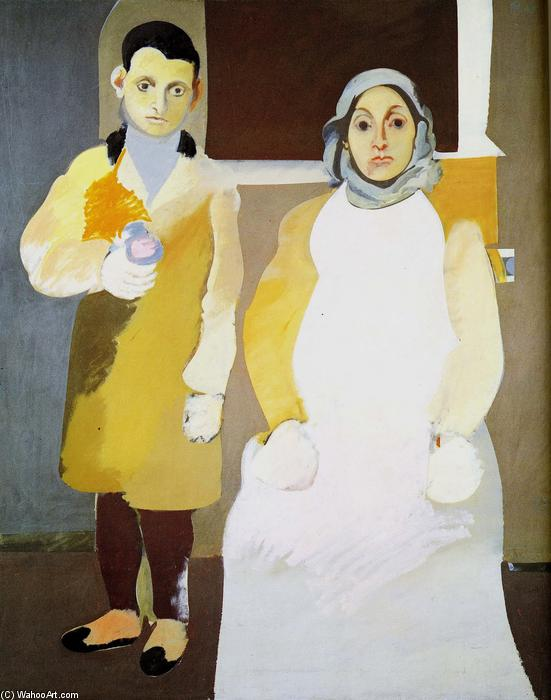 The Artist with His Mother, 1936 by Arshile Gorky (1904-1948, Turkey)