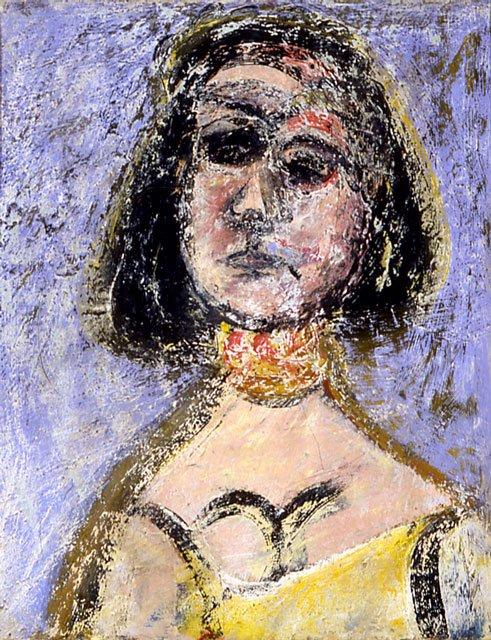 Woman with Necklace Marquette, 1936 by Arshile Gorky (1904-1948, Turkey)