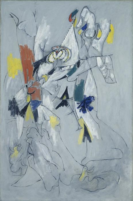 Waterfall, Oil On Canvas by Arshile Gorky (1904-1948, Turkey)