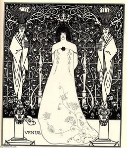 Aubrey Vincent Beardsley - Frontispiece for -Venus and Tannhauser-