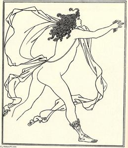 Aubrey Vincent Beardsley - Apollo pursuing Daphne
