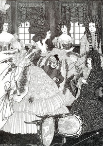 Aubrey Vincent Beardsley - The Battle of the Beaux and the Belles