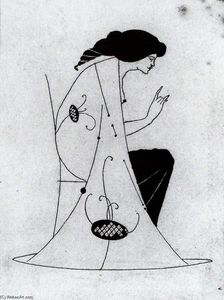 Aubrey Vincent Beardsley - Seated Lady