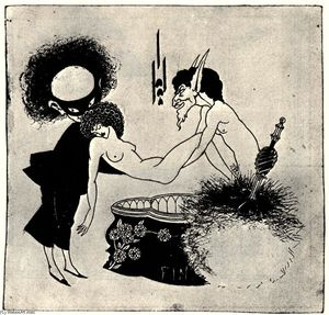 Aubrey Vincent Beardsley - The Burial of Salome